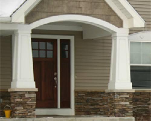Columns photo gallery artisan exteriors for Fypon pvc column wraps