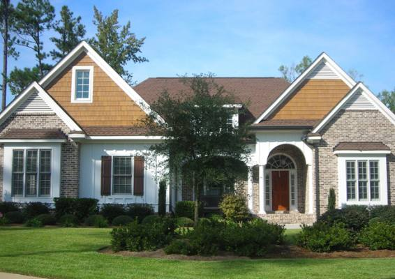 Siding photo gallery artisan exteriors for Exterior pediments